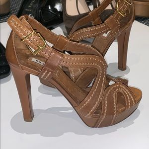 MIU MIU brown sandals